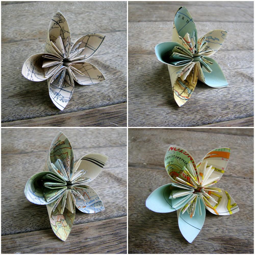 Map Folded Flowers Plus Tutorial Papervine