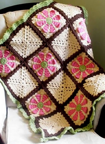 Daisy Flower Crochet Charity Square - Free Pattern