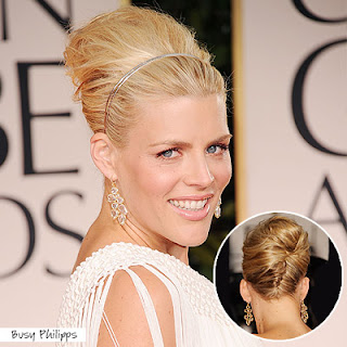 busy+phillips+golden+globes+2012 Easy Tricks To Create Golden Globes Hairstyles!