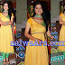 Anjali Abrol in yellow Banarasi Salwar Kameez