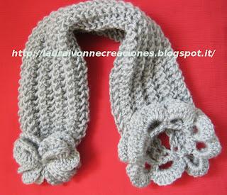 Cuello En 2 Agujas Con Cierre De Flor En Crochet De Vit  Ria Quintal Y
