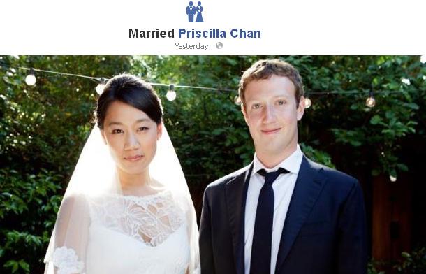 Foto Pernikahan Mark Zuckerberg dan Priscilla Chan