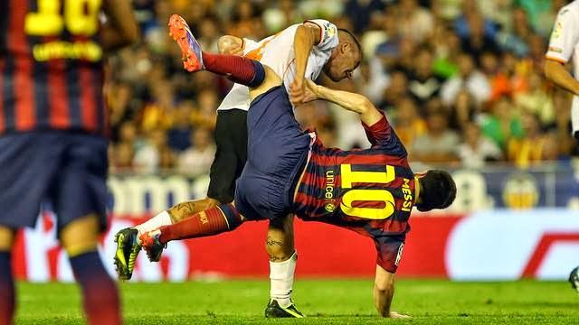 أهداف مباراة برشلونة و فالنسيا 2-3