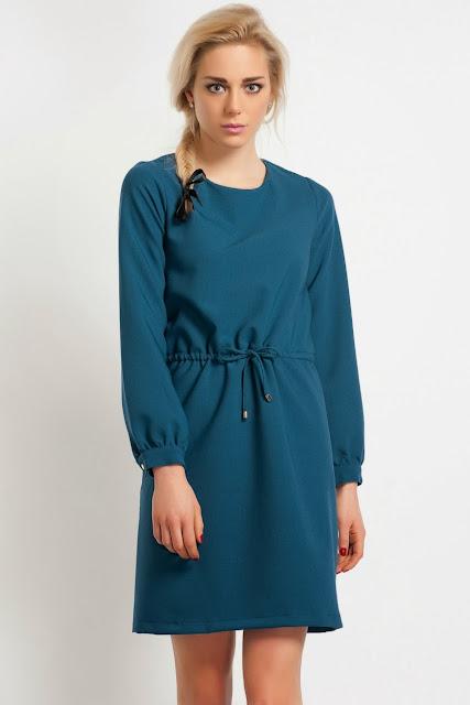 mavi bol kesim elbise kısa elbise 2014 elbise modelleri