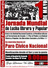 1ero de Mayo: Jornada de Lucha Obrera y Popular