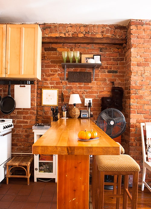 Traditional Kitchen With Brick Walls 2013 Ideas ~ Decorating Idea