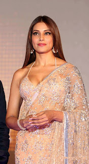 Bipasha Basu Spotted at Jodi Breakers Music Launch in a Spicy Saree Hot Bloue Choli