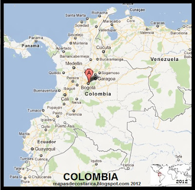 Mapa de COLOMBIA , Google Maps