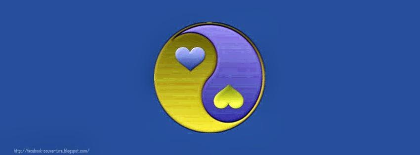 Couverture facebook hd personnalisée yin yang