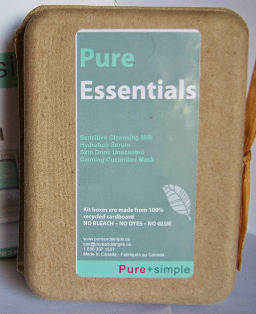 Pure + Simple Restoration Eye Mask and Essentials Kit: Sensitive Cleansing Milk, Hydration Serum, Skin Drink Unscented Lotion, Calming Cucumber Mask, beauty, skincare, review, clean, toronto, ontario, canada, natural, organic