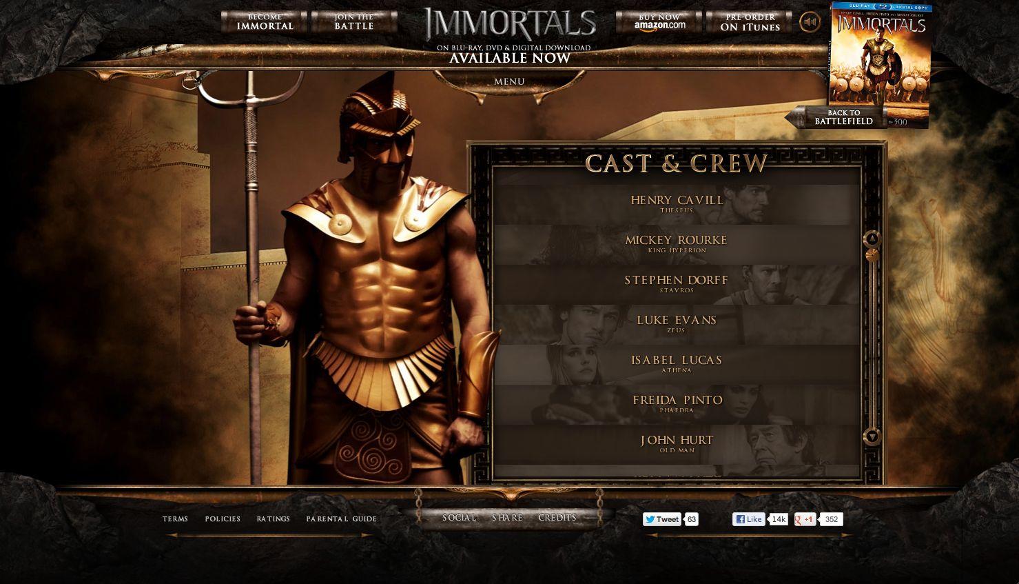 Immortals cast