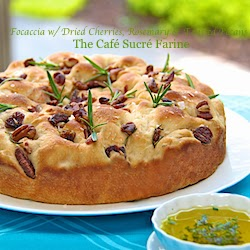 Focaccia With Dried Cherries Rosemary Toasted Pecans
