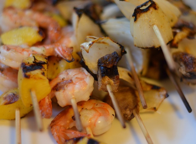 Luci's Morsels | Shrimp &amp; Peach Skewers