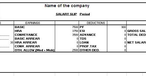 salary computation in excel