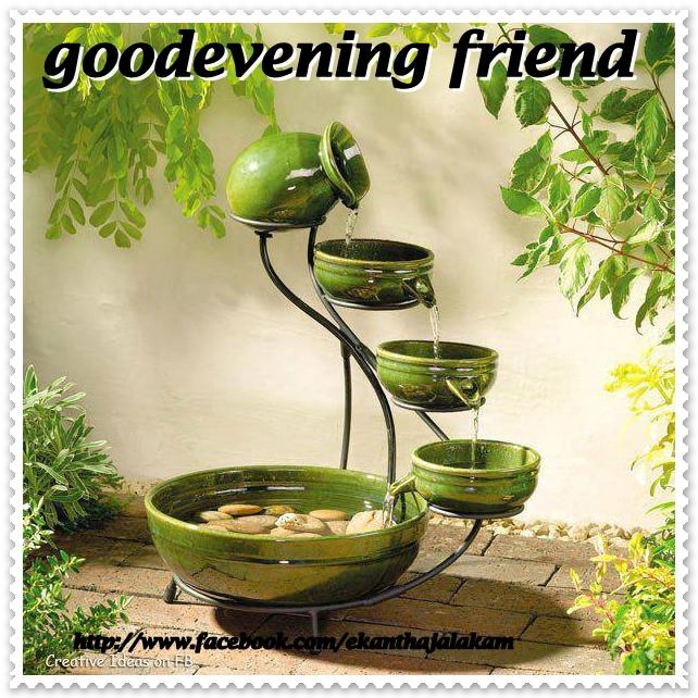 ... gud evening, simple & stylish wallpaper, designed gud evening