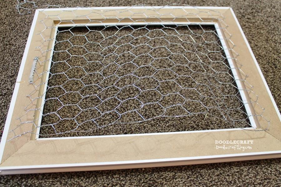 doodlecraft chicken and mesh wire vintage picture frames