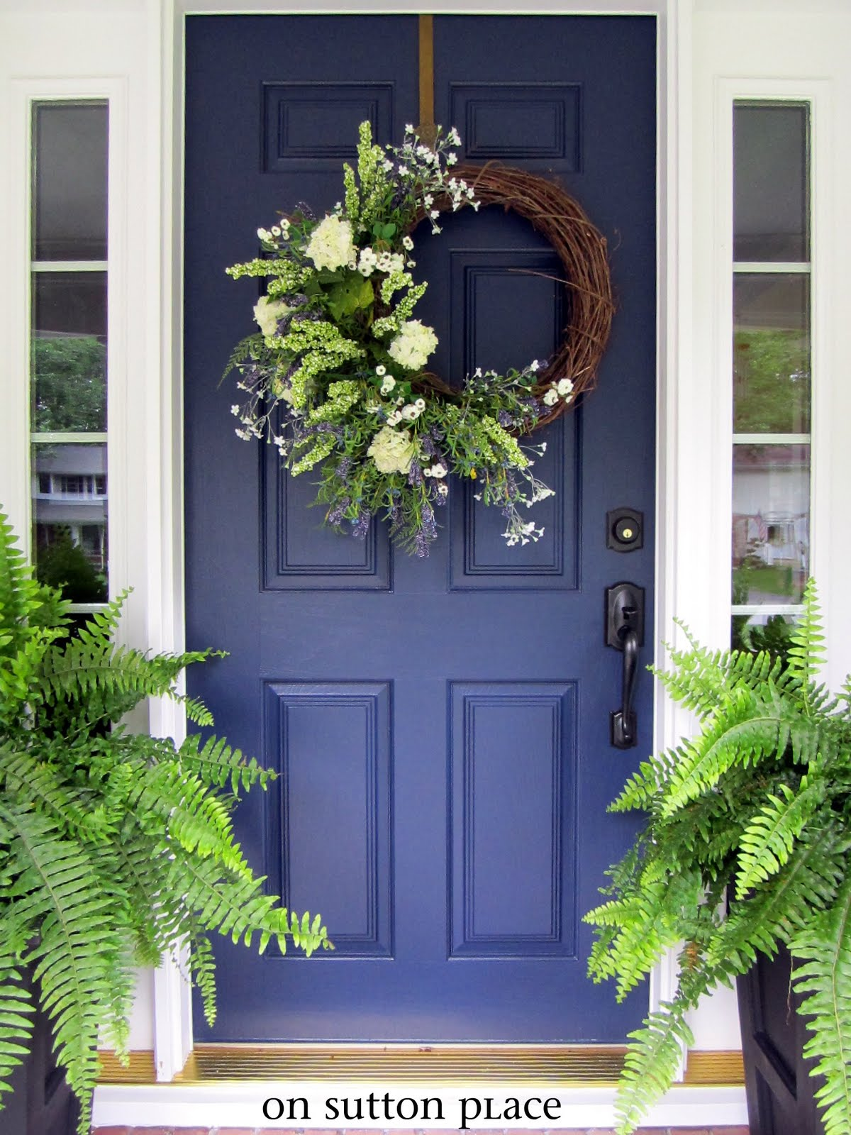 Dark blue front doors - My New Blue Front Door