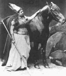 Brünnhilde mit Grane, 1876