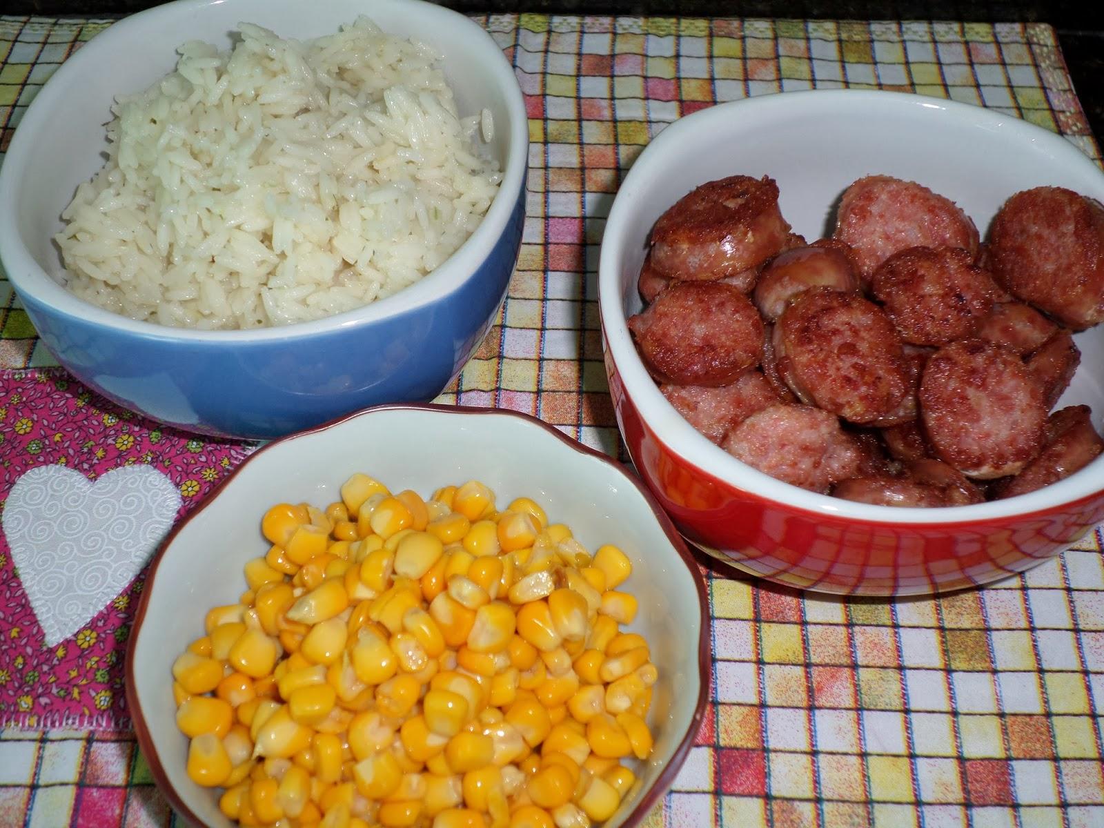 ingredientes arroz frito delicioso