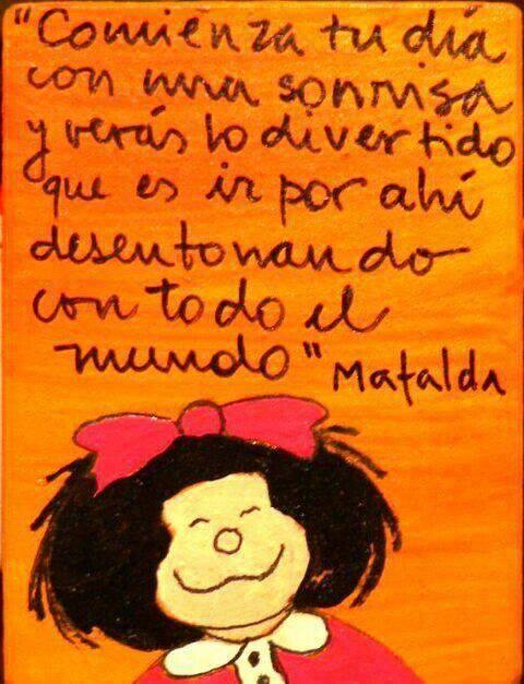 buenos dias, sonreir, sonrisas, mafalda