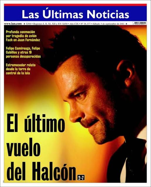 El director del diario Las Últimas Noticias, Agustín Edwards, se ...