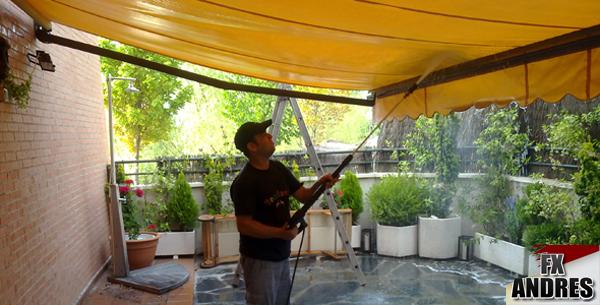 Limpiar fx y la protecci n solar for Limpieza de toldos