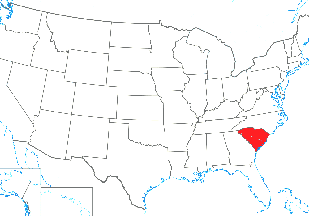 List Of Cities And Towns In South Carolina - South Carolina Towns Map