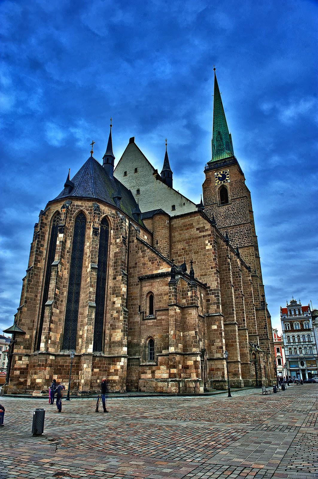 Plzen, Pilsen, Czech Republic, Plzen Namesti Republiky, St. Bartholomew's Cathedral Plzen