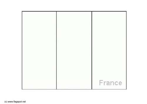 Mapa Bandera Francia Para Dibujar Pintar Colorear