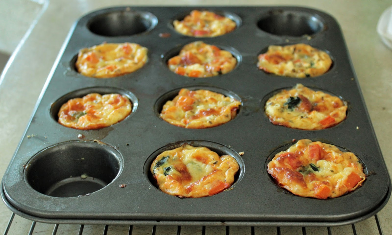 ... GODDESSES: Mini crustless quiche - so quick (and almost guilt free