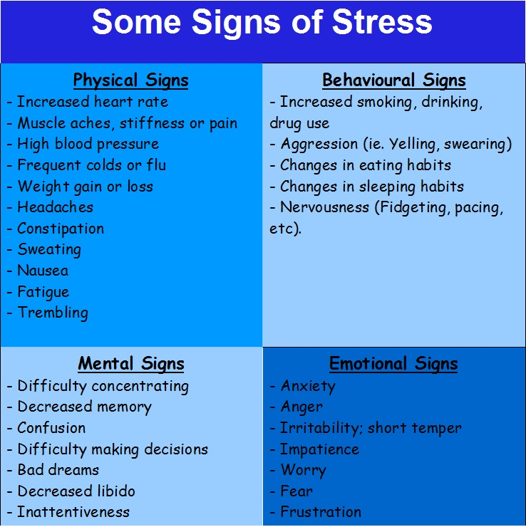 an analysis of emotional behavioral and physical signs of stress as well as importance of job stress Impact of stress on police officers' physical and in stress and possible signs of issues that affect work stress and job satisfaction.