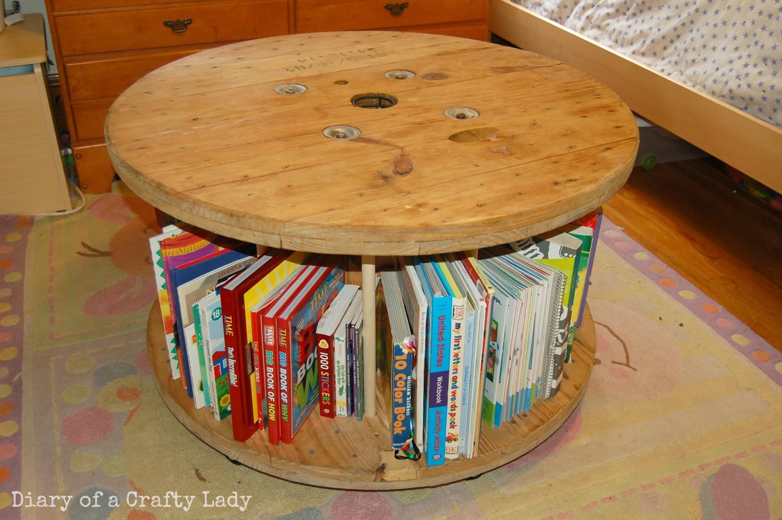 Wooden book reel, via Crafty Lady Lindsay