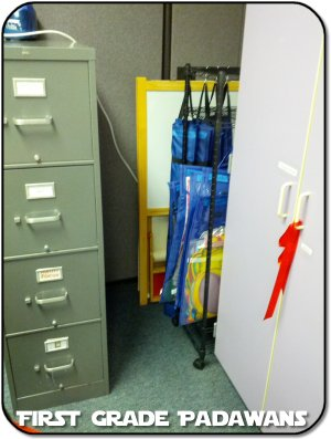 Here You Can See My Little Crack Of Space. Itu0027s Actually Less Space Because  I Have The File Cabinet Moved Over. I Have Extra Corkboards, Whiteboards,  ...