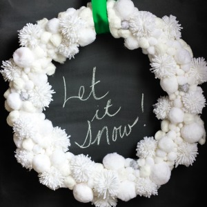 Make a snowball wreath!