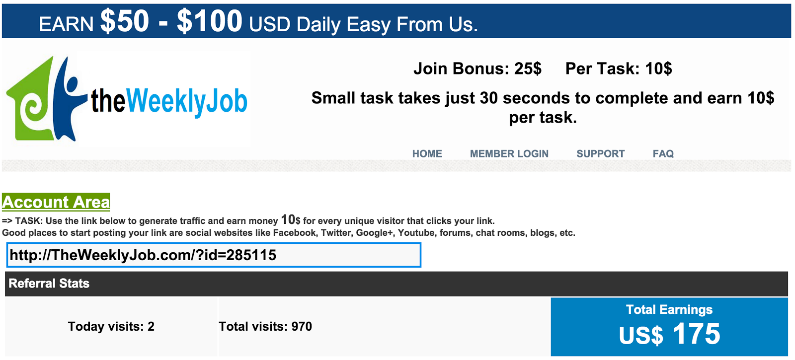 image Make Money Online Experiment- The Weekly Job Earnings Screen Shot Nov 24