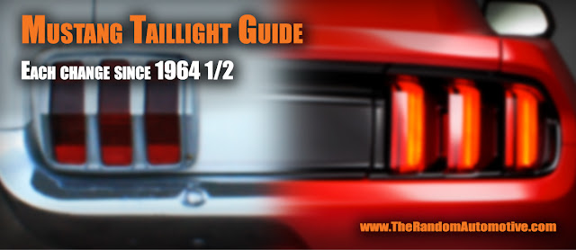 mustang tail light guide tri bar pony identification taillights
