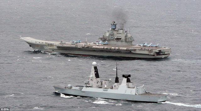 Admiral Kuznetsov and HMS Dragon