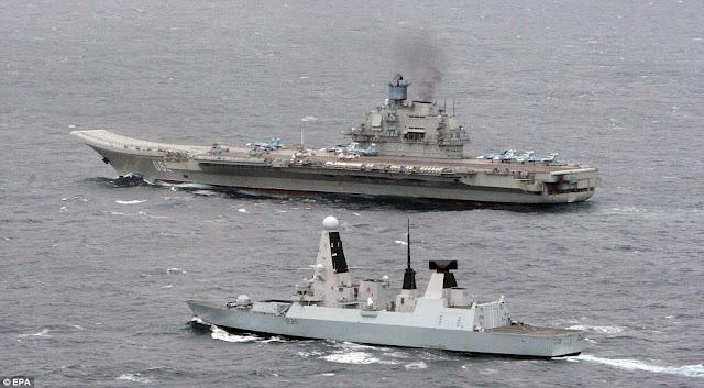 Admiral Kuznetsov and HMS Dragon