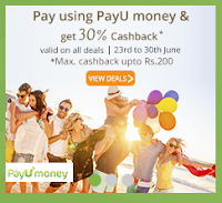 Get Flat 30% off Sitewide on Groupon (Through Payumoney,No Minimum Purchase) From 23 – 30 June:buytoearn