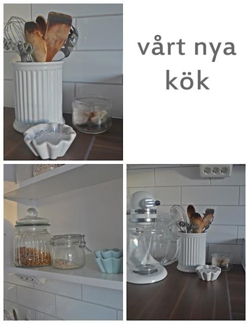 Flytta Diskho Kok : Vi valde en bonkskiva i valnot vilket gor perfekt ihop med golvet