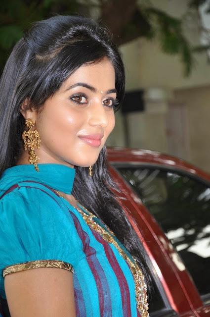 Poorna In Blue Salwar cute