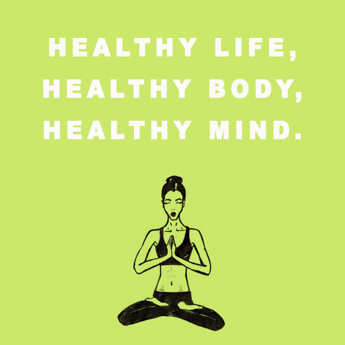healthy life healthy body healthy mind god is heart