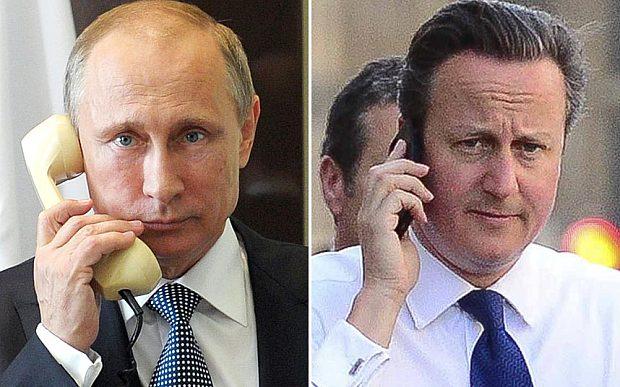 Putin e Cameron discutem o acidente com o avião no Egito