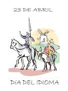 DIA DEL IDIOMA 23 DE ABRIL. Dibujo para colorear de MIguel de Cervantes . dia del idioma