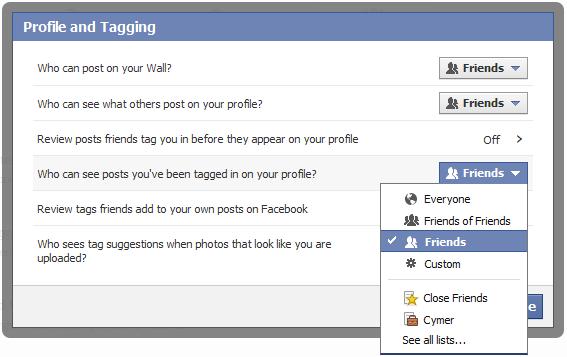 facebookプライバシー設定 プロファイルとタグ フレンド設定:ESETセキュリティブログ