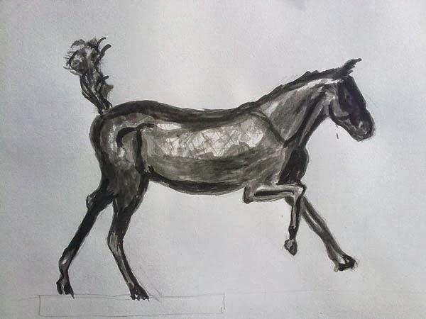 copia de caballo de degas con tinta