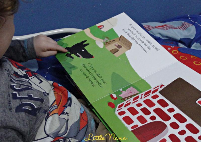 Hoy leemos los tres cerditos cuentos clasicos texturas