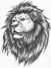 Motif Tato Singa Hitam Putih 32