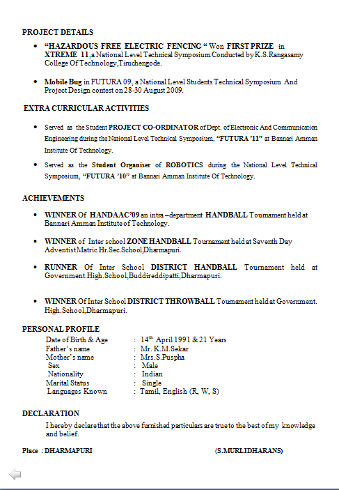 electronics engineer resume sample