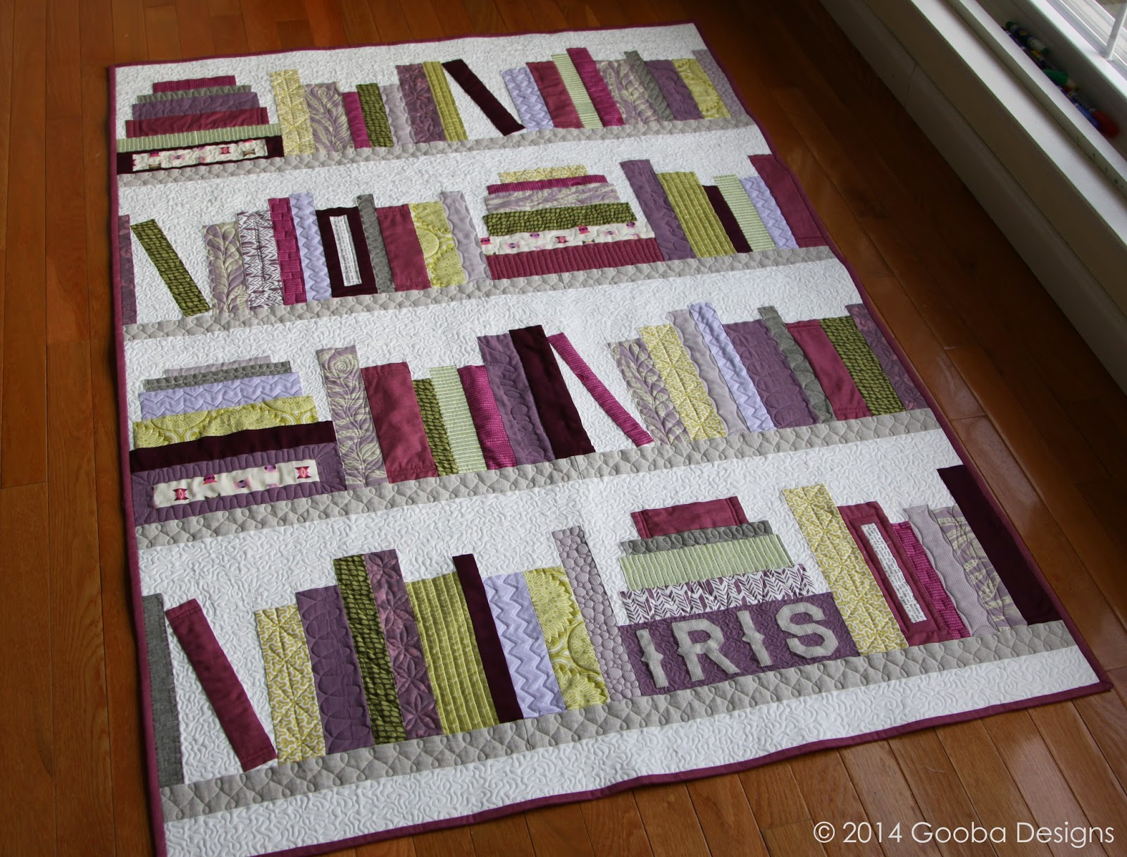 Gooba Designs: First Friday Finish of 2014: The Book Quilt